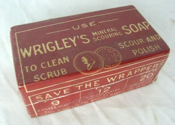 Wagon selling Wrigley's Soap sometime in the late 1800s